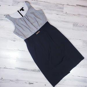 White house dress Sheath diamond print black skirt